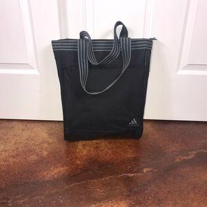 Adidas black logo large tote bag